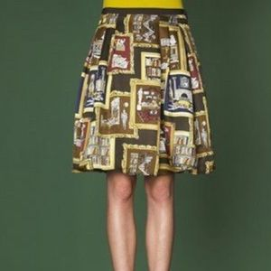 J. Crew Collection Library Printed Silk Skirt
